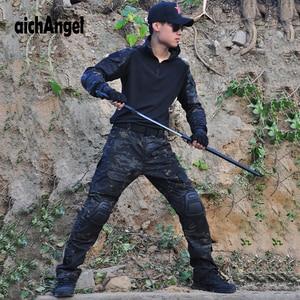 Image 5 - BDUยุทธวิธียุทธวิธีทหารผู้ชายUS Armyเสื้อผ้าAirsoftทหารเสื้อ + กางเกงเข่าPads