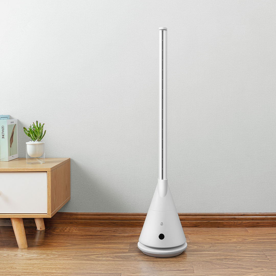 Youpin Rosou  Intelligent Leafless Pedestal Fan Mijia APP Control 11 Speed Wind Timing Household Fan With Remote Control