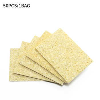 5/10/20/50Pcs Yellow Cleaning Sponge Cleaner for Enduring Electric Welding Soldering Iron image