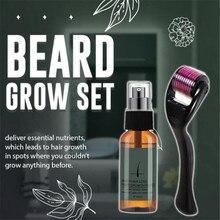 Oil-Spray Beard-Roller Enhancer Anti-Hair-Loss Natural Men's with Nourishing