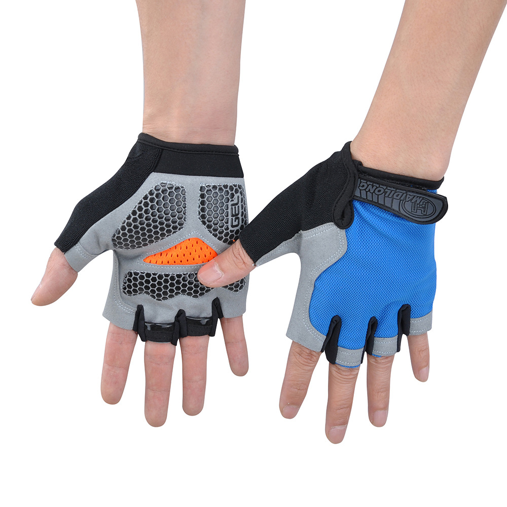 VIM Outdoor <font><b>Sports</b></font> <font><b>Half</b></font> <font><b>Finger</b></font> 3D GEL Silikon Handschuhe Radfahren <font><b>Gym</b></font> Fitness Gewichtheben Training Jogging Running Training Bike image