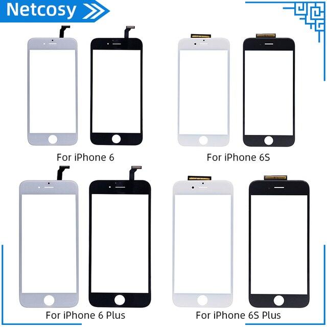 חדש שחור לבן מסך מגע Digitizer לוח זכוכית עדשה עבור iPhone 6 6s 6S בתוספת זול תצוגת קדמי החלפת חלק תיקון חלק