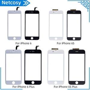 Image 1 - Nowy czarny biały ekran dotykowy szklany panel digitizera obiektyw dla iPhone 6 6s 6S Plus tanie wyświetlacz przednia część zamienna część naprawcza