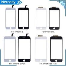 新ブラック白のタッチスクリーンデジタイザパネルのガラスレンズ iphone 6 6s 6S プラス安いディスプレイ前面交換パーツ修理パーツ
