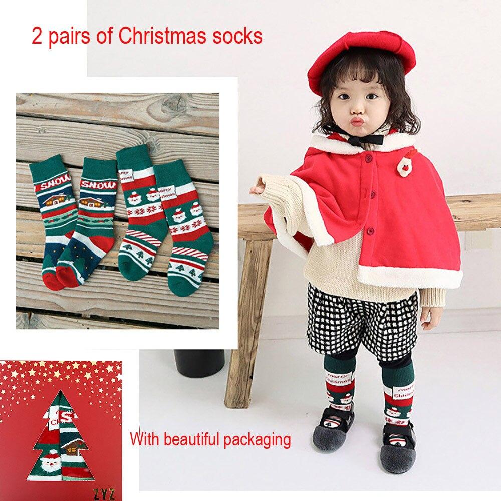 Baby Boys Girls Winter Children's Socks носки детские Puericulture Calze Antiscivolo Cute Casual Socks Middle Tube Socks H4