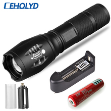 Led flashlight Ultra Bright torch XM-L T6 XM-L2-U3 Hunting Camping light 5 switch Modes Zoomable Bicycle Light use 18650 battery 2300lm searchlight 3 modes handheld xm l t6 zoomable rechargeable led portable spotlight 18650 flashlight torch lamp