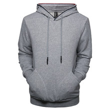 NEGIZBER 2019 New Autumn Winter Mens Hoodies Solid Patchwork Slim Fit Pullovers Men Fashion Casual Hooded