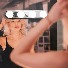4/10pcs/set Hollywood Led Vanity Lights Mirror Wall Lamp Makeup Light Bulbs For Dressing Table 10 2W Kit 2018 New Hot Sale