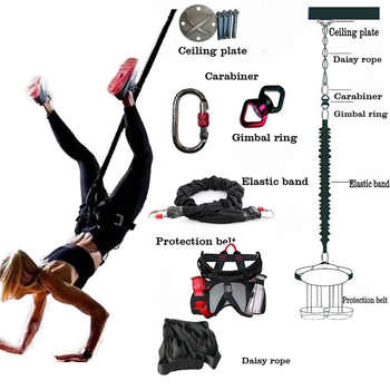 Bungee Dance Fitness Training Aerial Yoga Cord Pilates Elastic Suspension Sling Trainer Pull Rope - DISCOUNT ITEM  24% OFF All Category