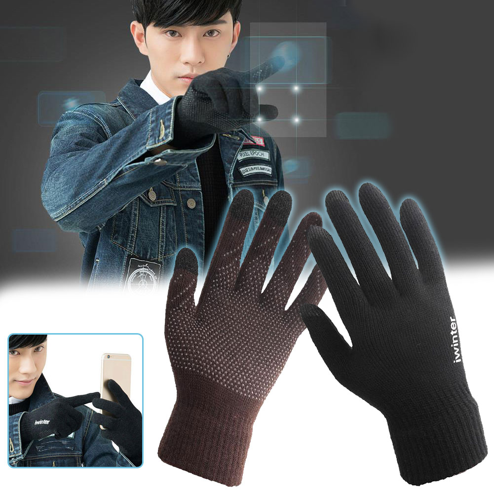 Gloves Touch Screen Full Finger Men Women Capacitive Smartphone Wool Accessories Winter Warming Gloves