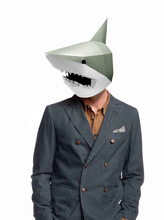 Paper Mask 3d Shark Costume Cosplay DIY Craft Model Christmas Halloween Prom Party Gift