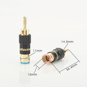 Image 5 - 4 個 24 18k ゴールドメッキバナナプラグスクリューロック 10 ミリメートルケーブル電線コネクタ