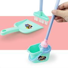Toys Cleaning Broom Play-House Kids Model-Toy-Set Simulated Puzzle Gift Sanitary-Mop
