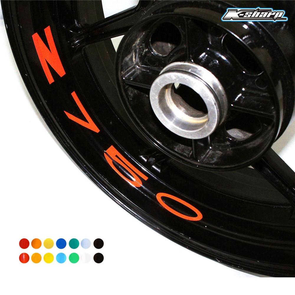 8 X Custon Inner Rim Decals Wheel Reflective Stickers Stripes FOR KAWASAKI Z750