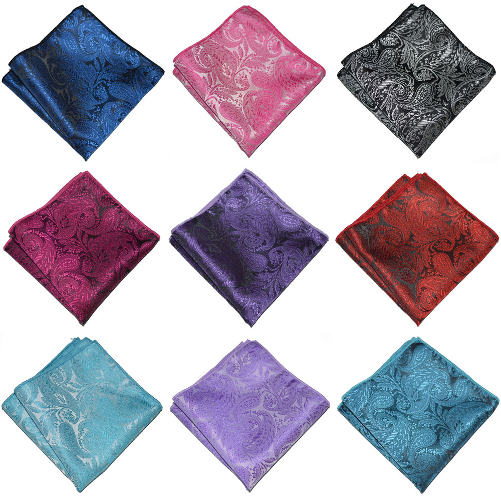 Men Handkerchief Paisley Floral Printed Party Pocket Square Men's Accessories BWTYX0333