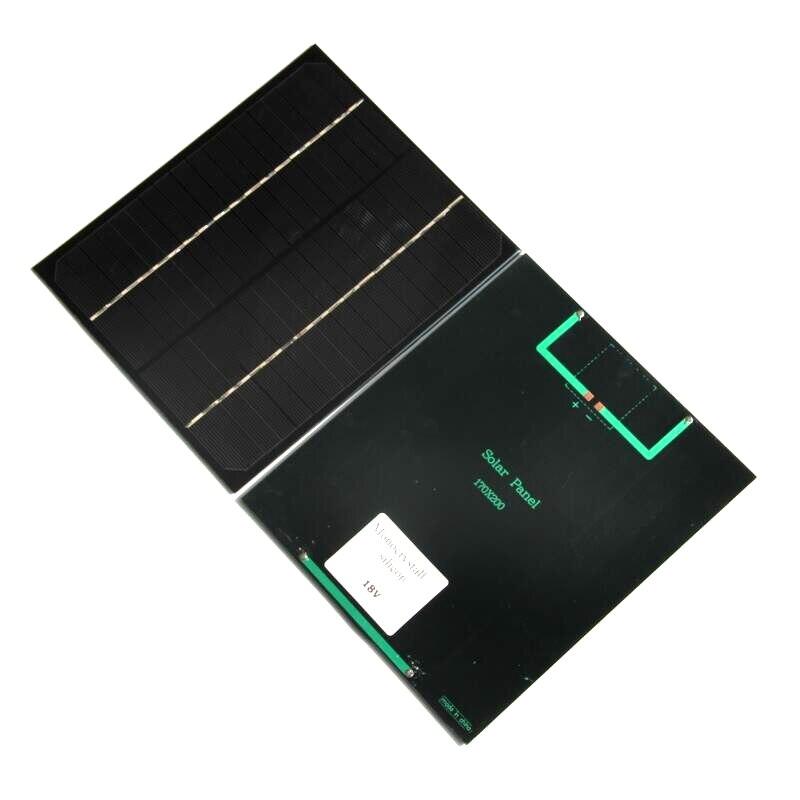 6W 18V Monocrystalline Solar Cells Solar Panel Module For Charging 12V Battery DIY Solar System 200*170MM Free Shipping