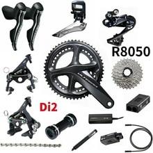 Shimano Ultegra R8050 R8010 Di2 2x11 Speed Groupset yol bisikleti Groupset 170 50 34 53 39 bisiklet grubu seti 2*11 hız