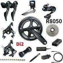 Shimano Ultegra R8050 R8010 Di2 gruppo 2x11 velocità gruppo bici da strada 170 50 34 53 39 gruppo bici Set 2*11 velocità