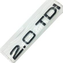 Emblema preto para audi 2.0 tdi quatro rodas tronco do carro logotipo adesivo
