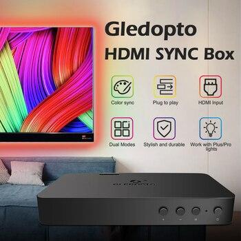 Gledopto LED TV Backlight HDMI Sync Box Kit RGB Led Light Strip 5M 12V Plug and Play Background Lighting For TV PC