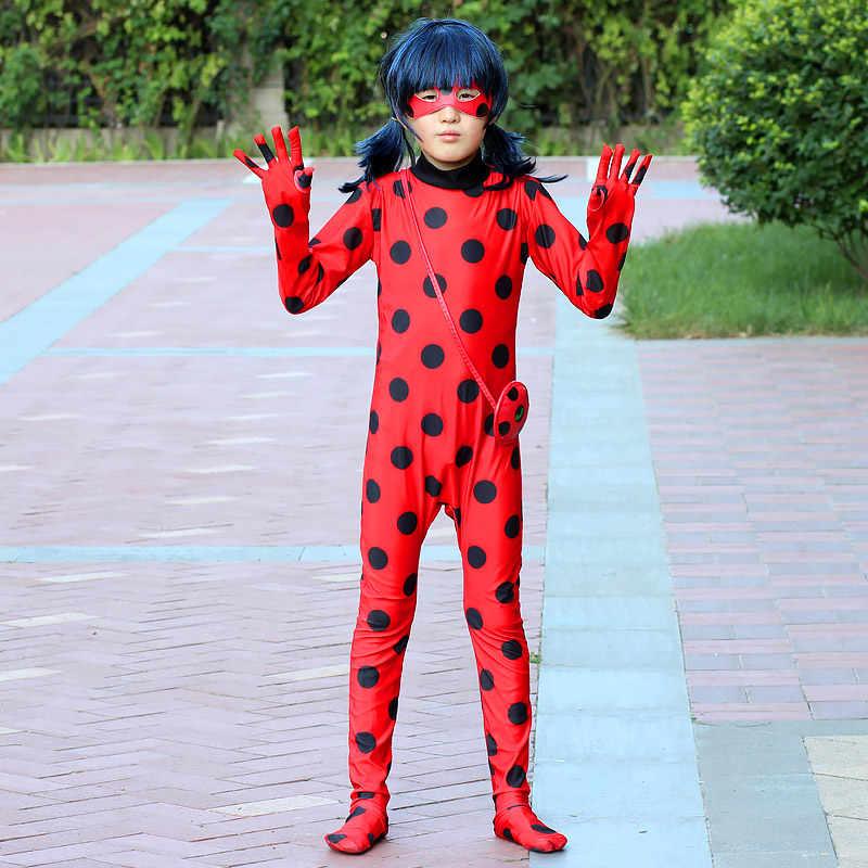 Halloween Della Signora Delle Ragazze Fancy Bug adulto donne Cosplay Costumi Della Tuta bambini Spandex costumi Della Signora bug per I Vestiti Dei Capretti Borsa Parrucca