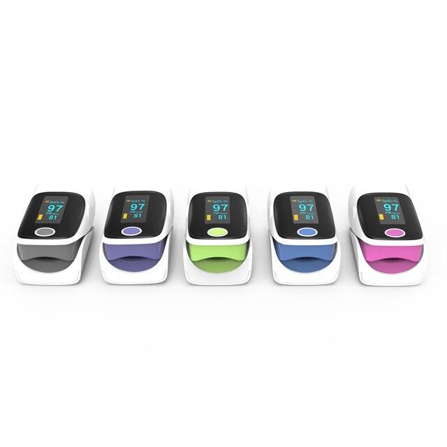 BOXYM OLED Finger Pulse Oximeter Oximetro de dedo blood oxygen Heart Rate Saturation Meter Saturometro Monitor CE 2