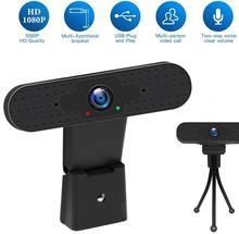 COFORCARE Webcam 1080P USB HD PC Camera Dual Microphone MIC Web Camera for Skype for Android TV Computer Camera USB Web Cam