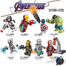 8 unids/set Avenger 4 bloques de Legoed superhéroe Thanos Spiderman x-men Hulk Iron Man juguetes para niños(China)