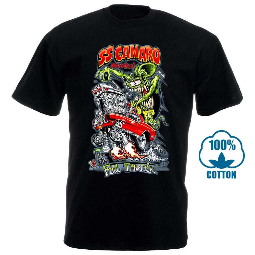Rat Fink Chevrolet Chevy Ss Camaro T Shirt Big Daddy Ed Roth Hot Rod Muscle Car
