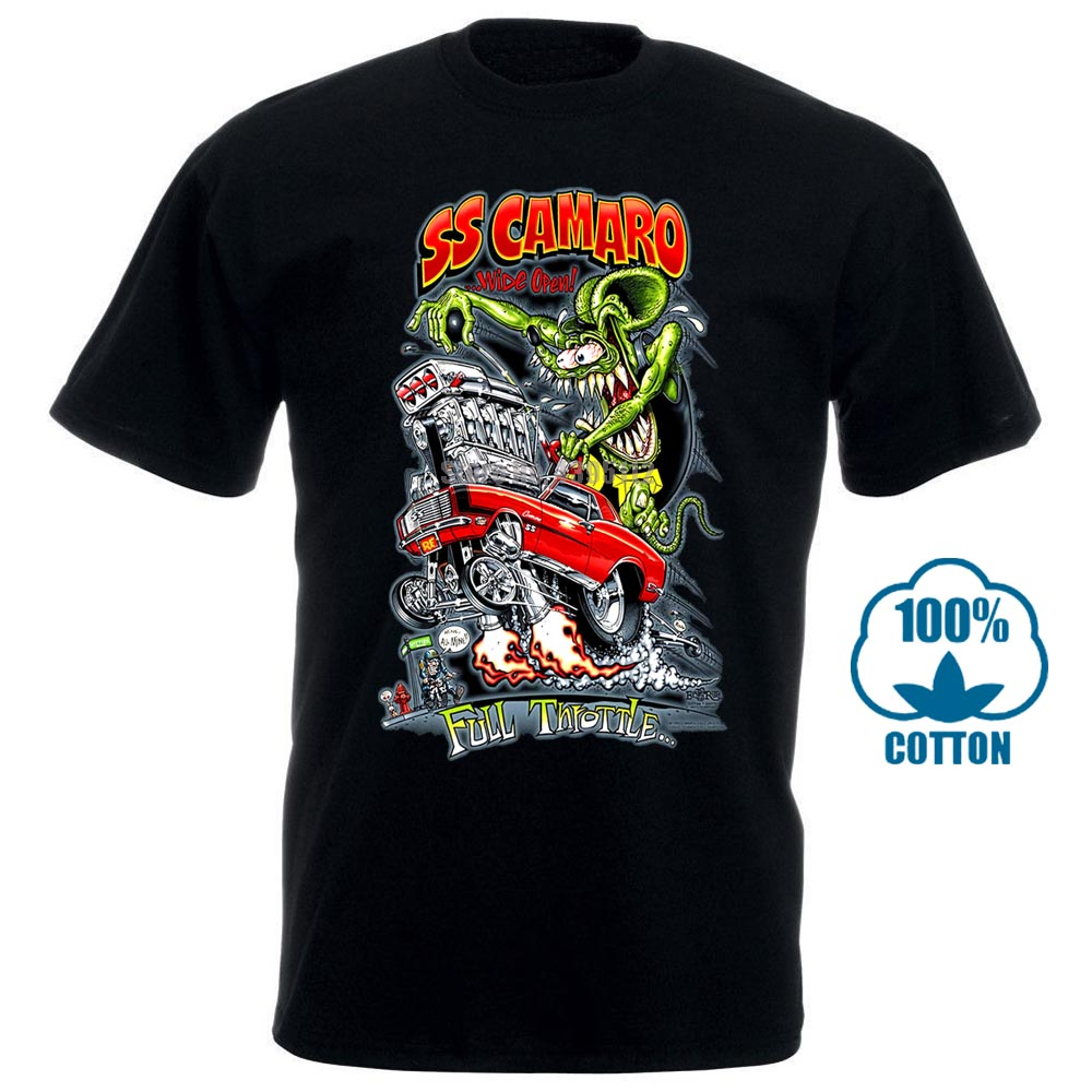 Ratte Fink Chevrolet Chevy Camaro Ss <font><b>T</b></font> <font><b>Shirt</b></font> Big Daddy <font><b>Ed</b></font> Roth Hot Rod Muscle Car image
