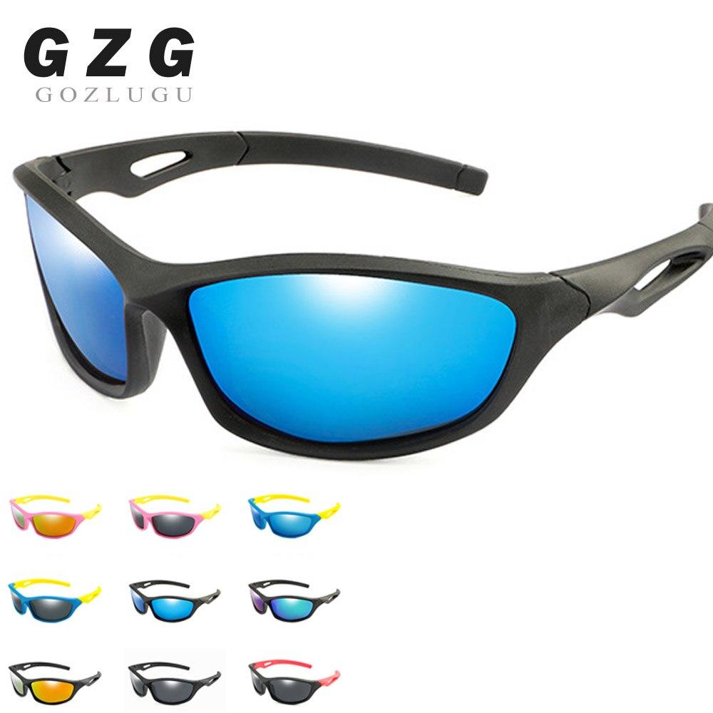 New Kids TR90 Polarized Sunglasses Boys Girls Sport Goggles Baby Children Oval Silicone Sun Glasses UV400 Gafas De Sol GOZLUGU