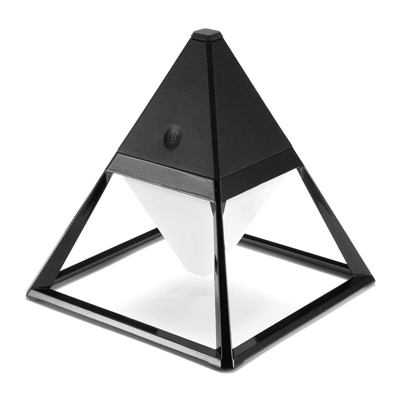 Pyramid Led Desk Lamp Eye Care Table Reading Light 3 Mode Press Control Ip63 Waterproof With Usb Charging Port For Bedroom Livin|Desk Lamps| |  - title=