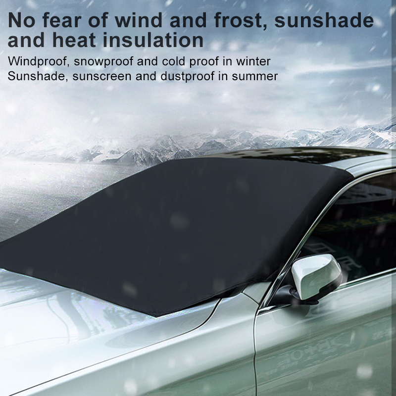 Universal Car Magnetic Sunshade Cover Windshield Snow Waterproof Ice Frost Sunshade Protector Front Windscreen Winter Cover