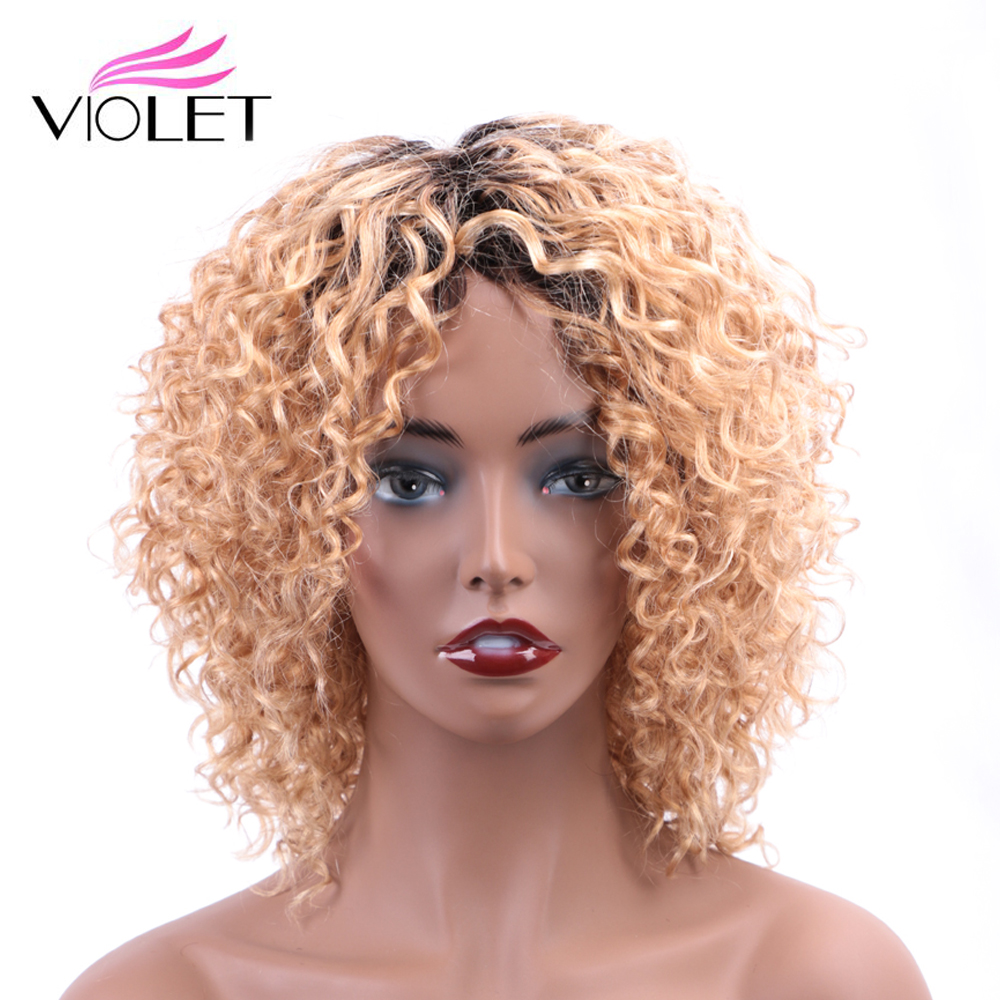 VIOLET Brazilian  Ombre Color Deep Wave Wig 10