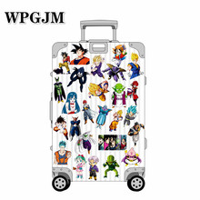 New 36Pcs/Lot Anime Dragon Ball Stickers Super Saiyan Goku Stickers for Car Laptop Skateboard Pad Bicycle Phone Decal a0023 superman logo dream anime kids recognition toy stickers for diy car laptop skateboard pad bicycle ps4 phone decal trunk
