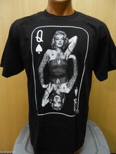 Marilyn Monroe Mens Queen Of Spades Playing Card Shirt New M(China)