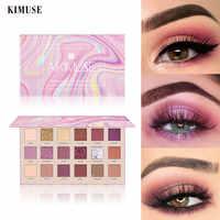 KIMUSE Rose Glitter Nude Lidschatten Palette 18 Farben Fritillaria Pulver Matte Pigment Langlebig Wasserdicht Make-Up-Palette