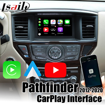 Wireless Apple CarPlay Android Auto Interface for Nissan Pathfinder 2013-2017 original screen upgrade with Youtube image
