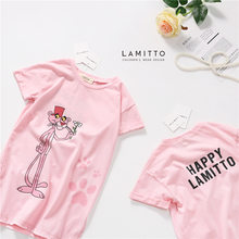 Tonytaobaby Summer New Baby Girl Cartoon Character Long T-shirt Pink Short Sleeve Pure(China)