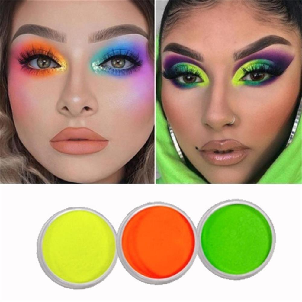 5Pcs/Set Neon Powder Eyeshadow Pigment Matte Mineral Spangle Nail Powder Cosmetics Set Make Up Shimmer Shining Eye Shadow LEK