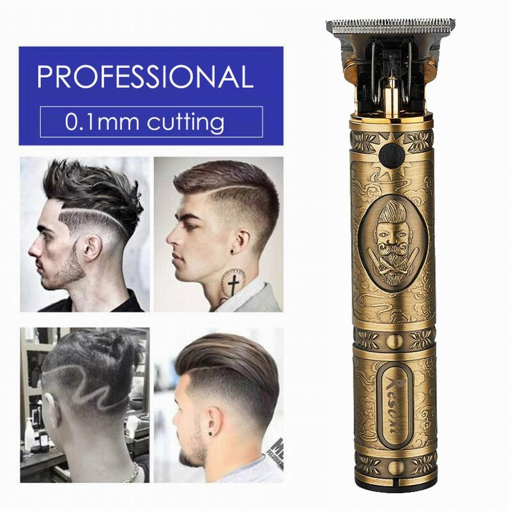 T9 Retro Oil Head Electric Clipper Carving Trimming Electric Fader Rechargeable Electric Hair Clipper Factory Direct Sales