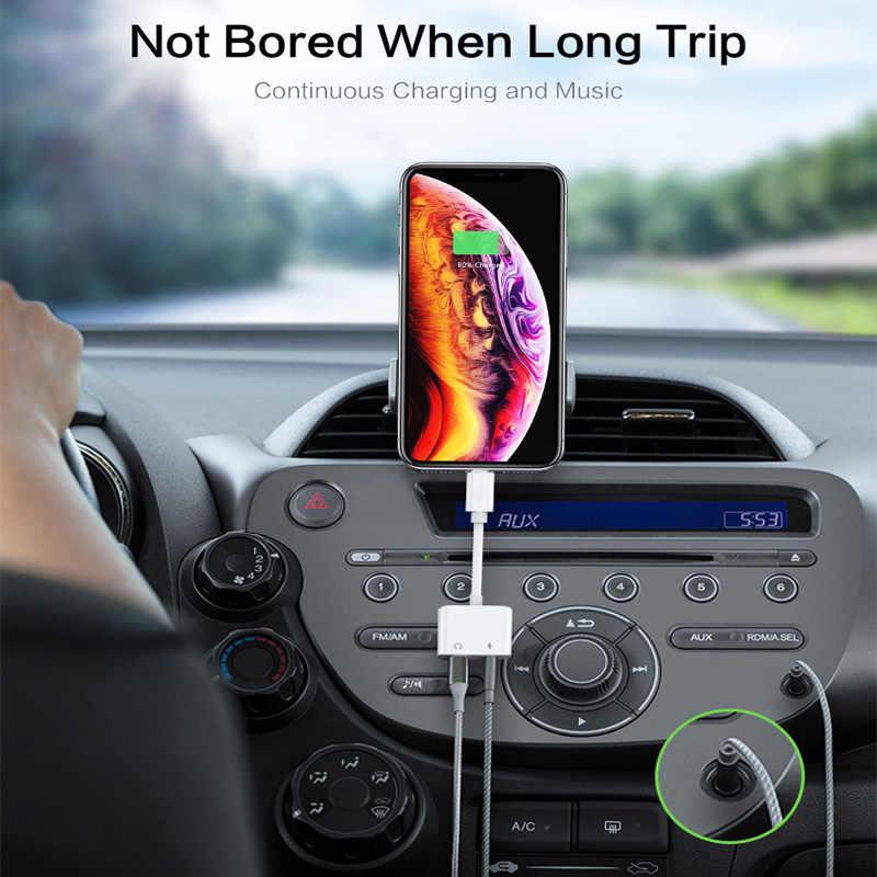 2 in 1 Trasduttore Auricolare Adattatore Per Apple iPhone 11 pro max 7 8 Martinetti Plus x xr xs max IOS 12 3.5 millimetri Martinetti convertitore Aux Cavo Splitter