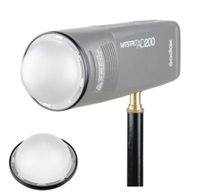 Godox difusor de cúpula de AK R11, Bola de difusión de Flash para Kit de AK R1 Godox, Mini piezas de repuesto de fotografía para flash Godox H200R v1