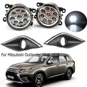 Image 1 - LED fog light Fog Lamp+Cover For Mitsubishi Outlander 2016 2019 Daytime Running Light