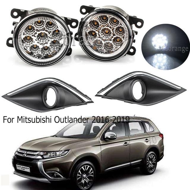 LED fog light Fog Lamp+Cover For Mitsubishi Outlander 2016 2019 Daytime Running Light
