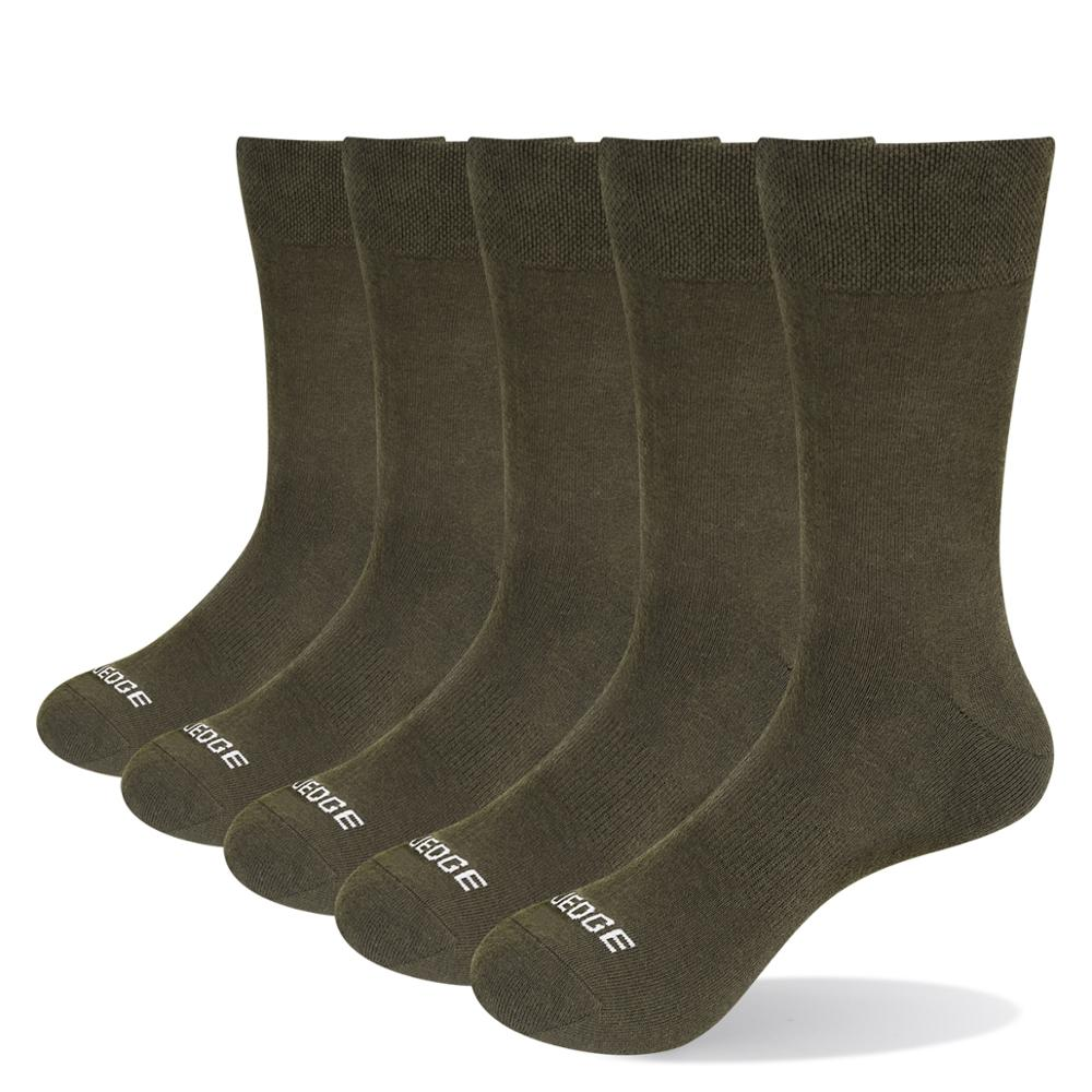 Yuedge 5 pares men coxim fibra de carvão de bambu respirável desodorante confortável esporte de negócios atlético vestido tripulação meias