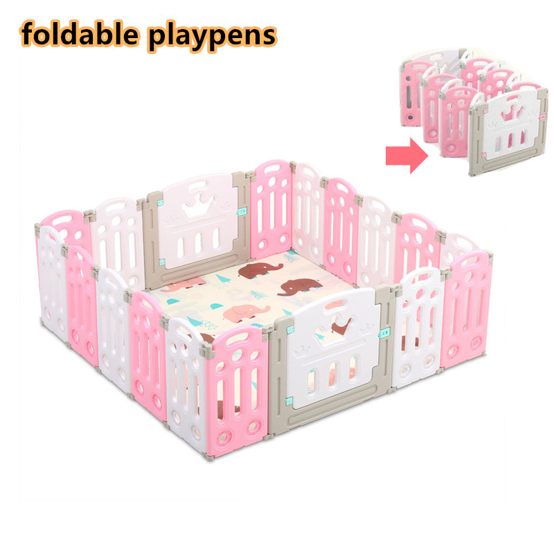 Baby Playpens Indoor Kids Game Fence Children Play Fence Kids Activity Gear Environmental Protection HDPE Safety Play Yard
