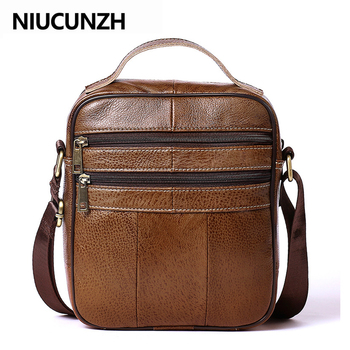 NIUCUNZH Genuine Leather Bag for Men Crossbody Bags Men's Shoulder Bag Flap Small Men Vintage Messenger Bags Handbags Leather