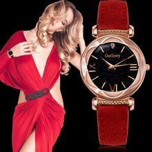 цена на Gogoey Women Waches Starry Sky Watch Leather Strap Quartz Watches Casual Lady Watch Relogio Feminino montre femme reloj mujer