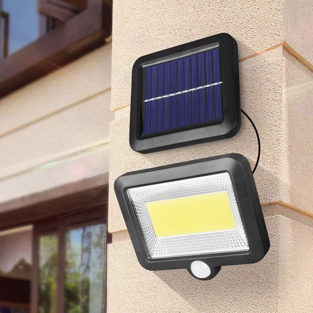 COB 56/100LED Solar Lamp Motion Sensor Outdoor Wall Lamp Waterproof Ip65 Outdoor Path Night Light Dropshipping
